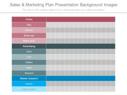 Sales And Marketing Plan Presentation Background Images