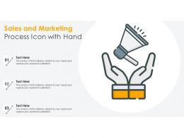 Sales And Marketing Process Icon With Hand