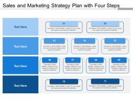 Sales And Marketing Strategy Plan With Four Steps