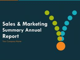 Sales And Marketing Summary Annual Report PowerPoint Presentation Slides