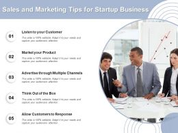Sales And Marketing Tips For Startup Business