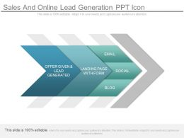 Sales And Online Lead Generation Ppt Icon