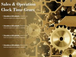 Sales And Operation Clock Time Gears
