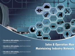 Sales And Operation Man Maintaining Industry Network