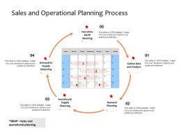 Sales And Operational Planning Process