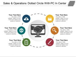 Sales And Operations Dotted Circle With Pc In Center
