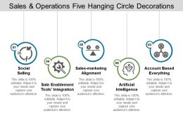 Sales And Operations Five Hanging Circle Decorations