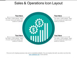 Sales And Operations Icon Layout