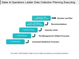Sales And Operations Ladder Data Collection Planning Executing