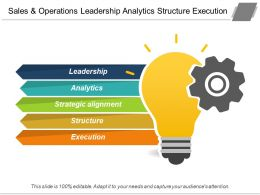 Sales And Operations Leadership Analytics Structure Execution