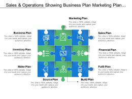 Sales And Operations Showing Business Plan Marketing Plan And Sales Plan
