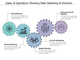 Sales And Operations Showing Data Gathering And Demand Planning