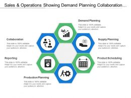 Sales And Operations Showing Demand Planning Collaboration And Reporting