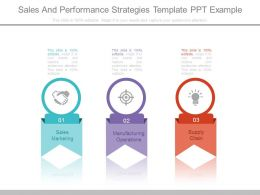 Sales And Performance Strategies Template Ppt Example