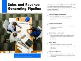 Sales And Revenue Generating Pipeline