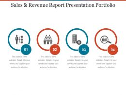 Sales And Revenue Report Presentation Portfolio