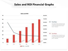 Sales And ROI Financial Graphs