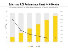 Sales And ROI Performance Chart For 6 Months