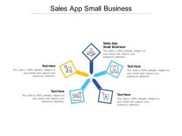 Sales App Small Business Ppt Powerpoint Presentation Ideas Brochure Cpb
