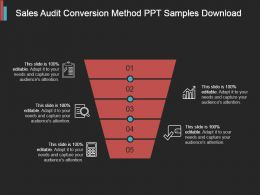 Sales Audit Conversion Method Ppt Samples Download