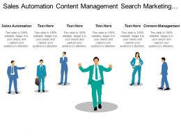 Sales Automation Content Management Search Marketing Marketing Automation