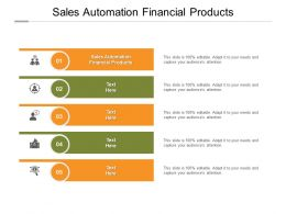 Sales Automation Financial Products Ppt Powerpoint Presentation Model Portfolio Cpb