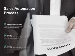 Sales Automation Process Ppt Powerpoint Presentation Show Guide Cpb