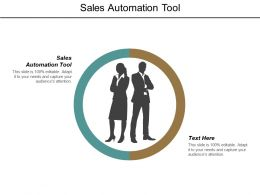 Sales Automation Tool Ppt Powerpoint Presentation Pictures Professional Cpb