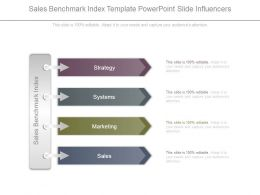 Sales Benchmark Index Template Powerpoint Slide Influencers