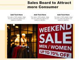 Sales Board To Attract More Consumer