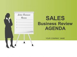 Sales Business Review Agenda PowerPoint Presentation Slides