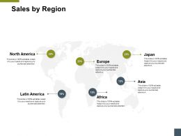 Sales By Region Geographical A192 Ppt Powerpoint Presentation Model Picture