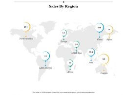 Sales By Region Geography Ppt Infographics Example Introduction