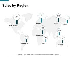 Sales By Region Location B125 Ppt Powerpoint Presentation Gallery Tips