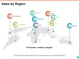 Sales By Region Ppt Model Demonstration