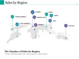 Sales By Region Ppt Powerpoint Presentation File Clipart Images