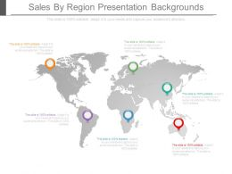 Sales By Region Presentation Backgrounds