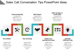 Sales Call Conversation Tips Powerpoint Ideas
