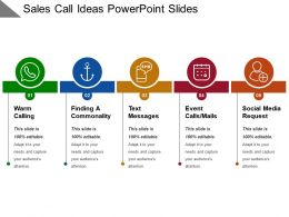 Sales Call Ideas Powerpoint Slides