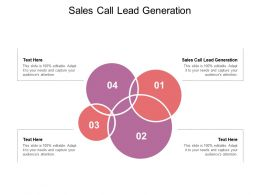Sales Call Lead Generation Ppt Powerpoint Presentation Model Example Cpb