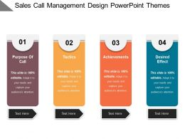 Sales Call Management Design Powerpoint Themes