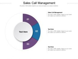 Sales Call Management Ppt Powerpoint Presentation File Tips Cpb