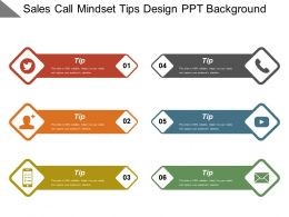 Sales Call Mindset Tips Design Ppt Background