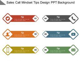 Sales Call Mindset Tips Design Ppt Background