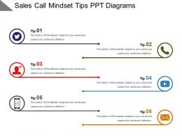 Sales Call Mindset Tips Ppt Diagrams