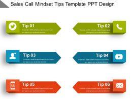 Sales Call Mindset Tips Template Ppt Design