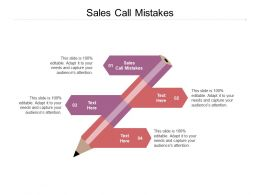 Sales Call Mistakes Ppt Powerpoint Presentation Icon Example Cpb