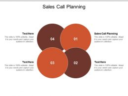 Sales Call Planning Ppt Powerpoint Presentation Shapes Cpb