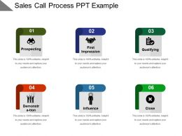 Sales Call Process Ppt Example