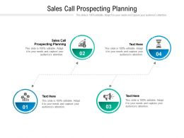 Sales Call Prospecting Planning Ppt Powerpoint Presentation Styles Visuals Cpb